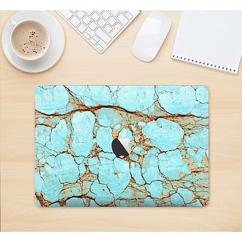 "The Cracked Teal Stone Skin Kit for the 12"" Apple MacBook"