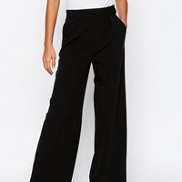 ASOS The Wide Leg Pants with Pleat Detail at asos.com
