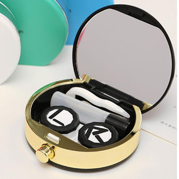2016 Best Christmas Gift Contact Lens Box Holder Travel Case Contact Lens Container High Quality Contact Lenses Cute Lens Box