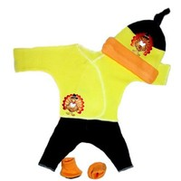 Jacqui's Unisex Baby Happy Thanksgiving Turkey Clothing Set