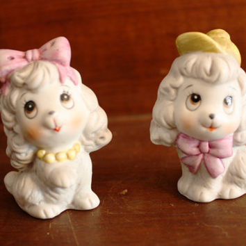 Vintage Cute Puppy Salt and Pepper Shakers