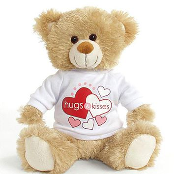 "Plush - Hearts ""Hugs and Kisses"" Teddy Bear"