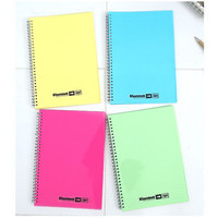 Neon color twin ring ruled notebook with perforated line - S size