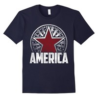 America Fourth of July Cool Stars and Stripes T-Shirt
