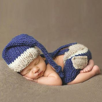 Newborn Photography Props Accessories Handmade Costume Knitted Crochet Children's Hats Photo Props Baby Caps Hats