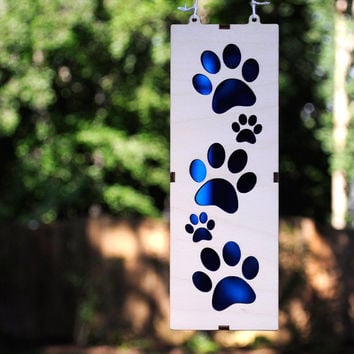 Walking Paws Suncatcher for Dog, Cat, and Animal Lovers