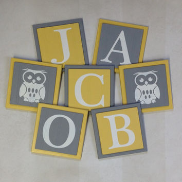 Shop Baby Name Plaques For Nursery on Wanelo