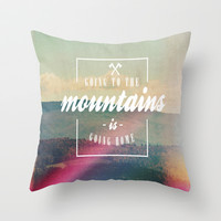 Going Home Throw Pillow by Rachel Burbee