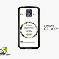 Pierce The Veil Song Lyrics Samsung Galaxy S5 Case Cover by Avallen
