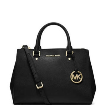 Michael Michael Kors Zip Top Sutton Medium Saffiano Satchel