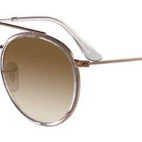 Kalete RAY BAN 3647/N 3647N 51 DOUBLE BRIDGE 907051 ROSE GOLD HAVANA SUNGLASSES