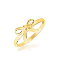 Bow ring in 14k yellow gold