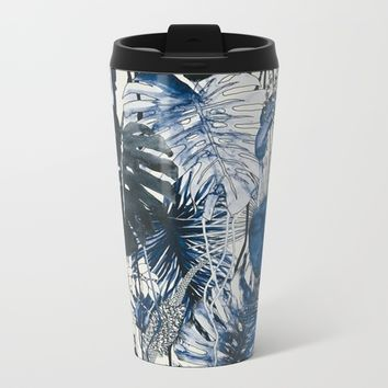 Tropical Plants Metal Travel Mug by Salome