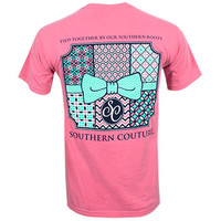 Southern Couture Patchwork T-Shirt - Pink