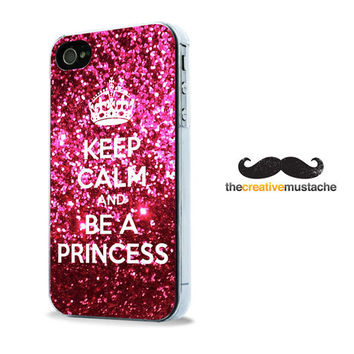 Custom iPhone 4 Case iPhone 5 Case - KEEP CALM PRINCESS - iPhone 4 cover iPhone 5 cover