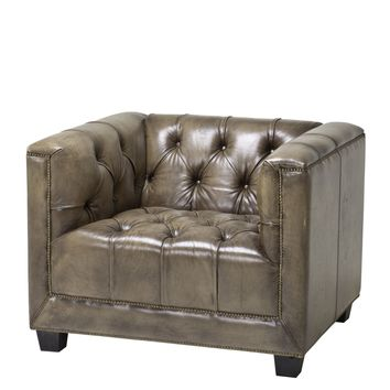 Olive Green Lounge Chair   Eichholtz Paolo