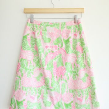 Lilly Pulitzer Pink & Green Skirt
