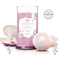 June Birthstone: Pearl Candle and Bath Bomb Gift Set With a Ring and a Chance to Win a $10k Ring