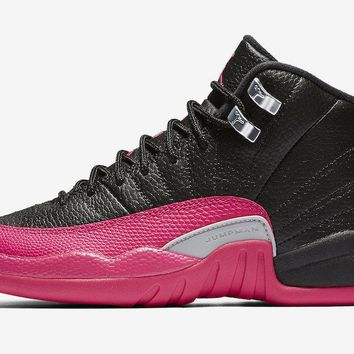 "Air Jordan Retro 12 XII ""Deadly Pink"" Grade School"