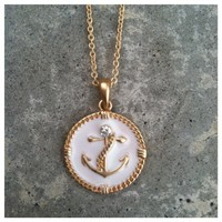 Sailor Babe Anchor Necklace- Tanya Kara Jewelry