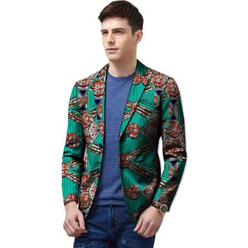 African men blazers bright colored print private custom mens suit coats for party unique design dashiki clothing