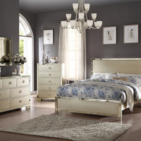 Acme 27140Q 5 pc Voeville champagne finish wood paneled queen bedroom set
