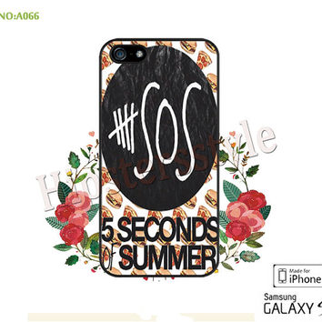 5SOS Phone case iPhone 5/5S/5C Case, iPhone 4/4S Case, 5 seconds of summer  S3 S4 S5 Note 2 Note 3 Case for iPhone-A066