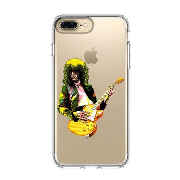 JIMMY PAGE LED ZEPPELIN iPhone and Samsung Galaxy Clear Case