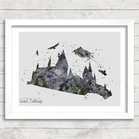 Harry Potter Hogwarts Watercolor Art Poster Print, Dementor, Wall Art, Home Decor, Boy's Gift, Not Framed, Buy 2 Get 1 Free! [No. 55]
