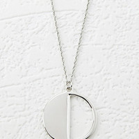 Cutout Circle Charm Necklace