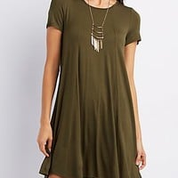 SEAMED CUT-OUT SWING DRESS