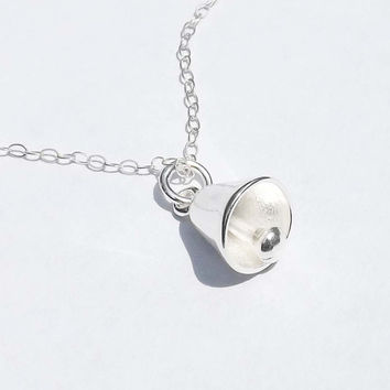 Sterling silver bell necklace - Sweet and Simple - Birthday,Wedding,Graduation,Mother,Sister,Bridesmaid