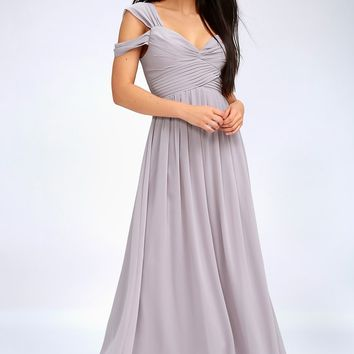 Make Me Move Grey Maxi Dress
