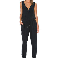 Le Zip Jumpsuit in Noir