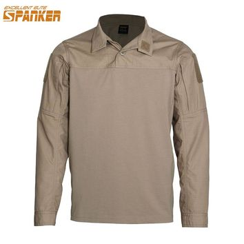 EXCELLENT ELITE SPANKER NEW Brand Army Male Long Sleeve T-Shirt Military Combat Men's Camouflage Assault Tactics T Shirt