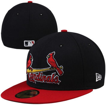New Era St. Louis Cardinals Two-Tone 59FIFTY Fitted Hat - Navy Blue/Red-