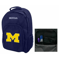 Southpaw Navy Michigan Wolverines Backpack
