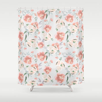 sweet peach Shower Curtain by sylviacookphotography