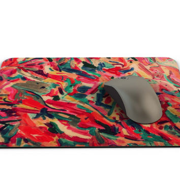 Pink Mousepad - FREE Shipping to USA sublimation handmade rectangular mouse pad colorful art pinks painting artsy cute for girls women tech