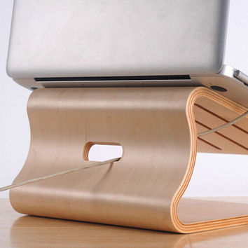 Real Birch Wood Stand for Macbook Pro / Air