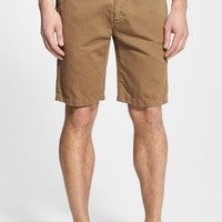 Men's 7 For All Mankind Flat Front Cotton & Linen Chino Shorts