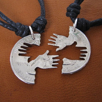 Interlocking Necklaces, Hand in Hand, Cut Coins.