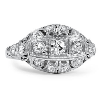 18K White Gold The Nathalia Ring