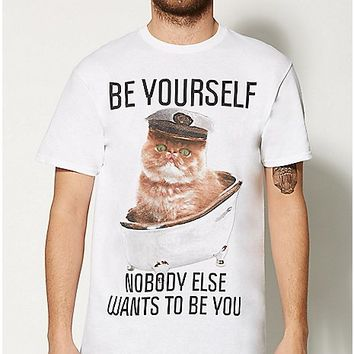 Be Yourself Cat T shirt - Spencer's