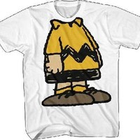 Charlie Brown 'No Head' White T-Shirt