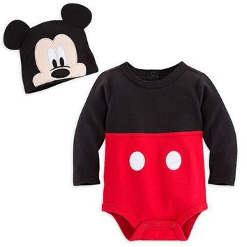 Disney Store Mickey Mouse Baby Costume Outfit & Hat Boys 3 6 9 12 18 24 Months