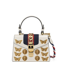 Gucci Sylvie Small Top-Handle Satchel Bag with Animal Embellishments