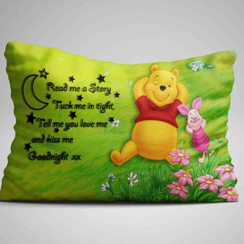 """Hot Cheap Winnie The Pooh Sleep Quote Design Pillow Case 16""""x24"""" Limited Edition"""