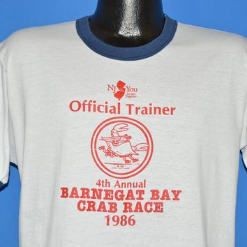 80s Barnegat Bay Crab Race 1986 New Jersey t-shirt Large