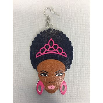 Afro Princess earrings | Natural hair earrings | Afrocentric earrings | jewelry | accessories